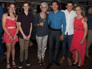 Jnior Athletes with patron Fiona Stanley