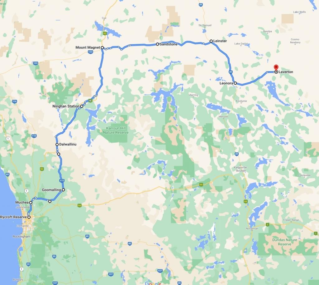 Perth Laverton map